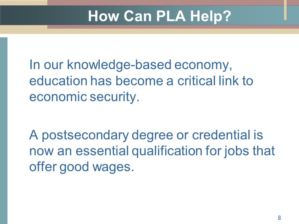 How Can PLA Help.