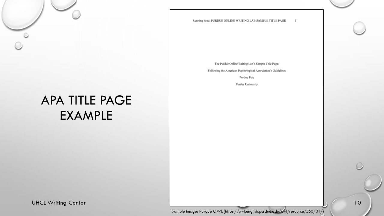 example of title page apa