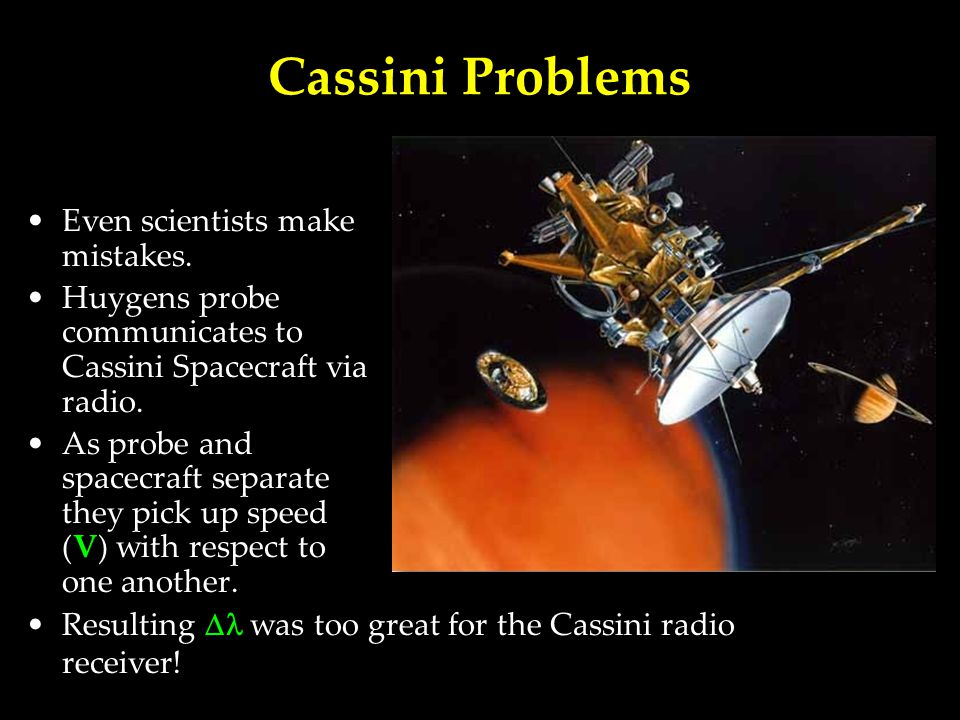 Cassini Problems Even scientists make mistakes.