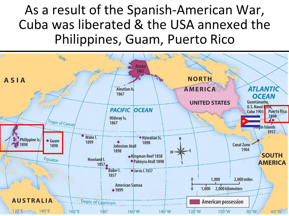 What was the difference in american foreign policy before and after the spanish american war?
