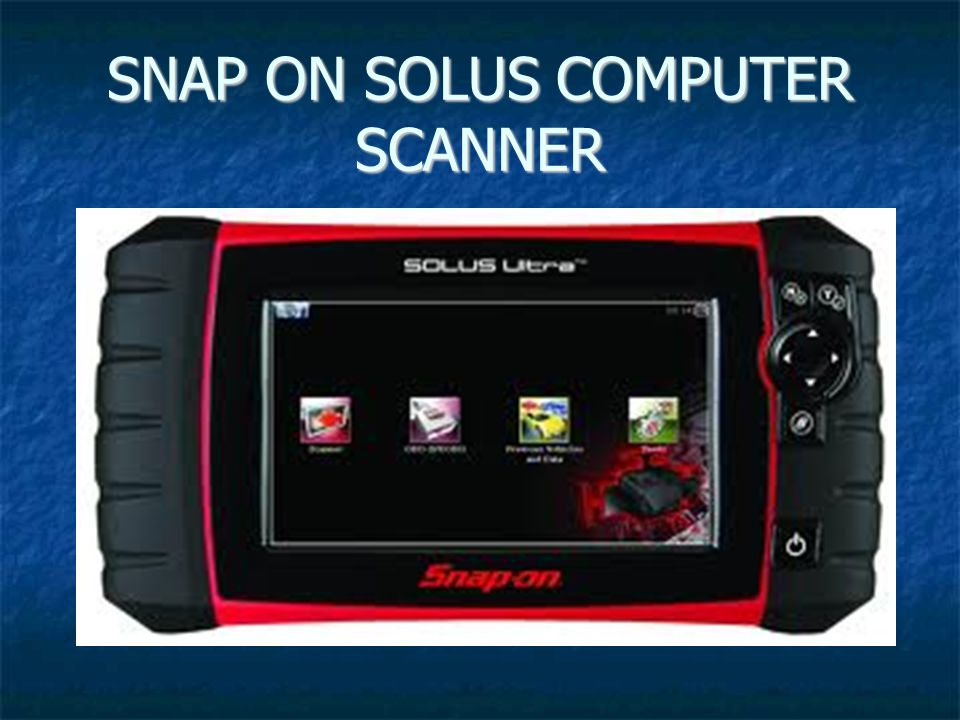 SNAP ON SOLUS COMPUTER SCANNER