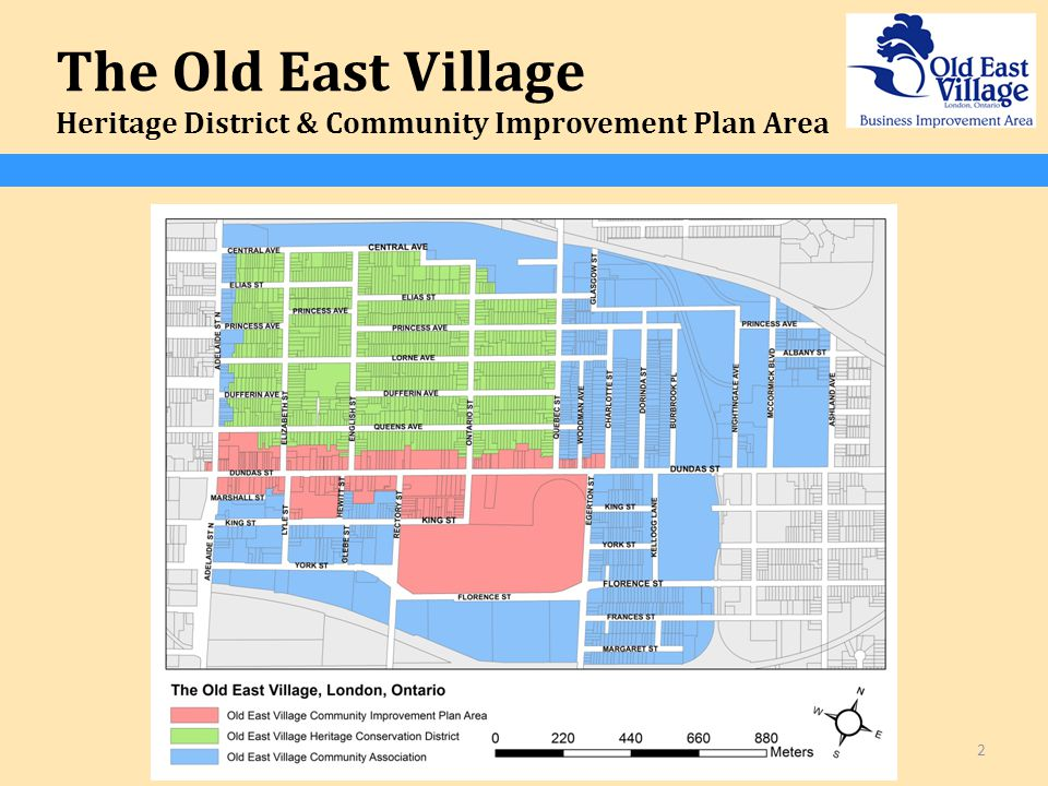 The Old East Village Heritage District & Community Improvement Plan Area 2