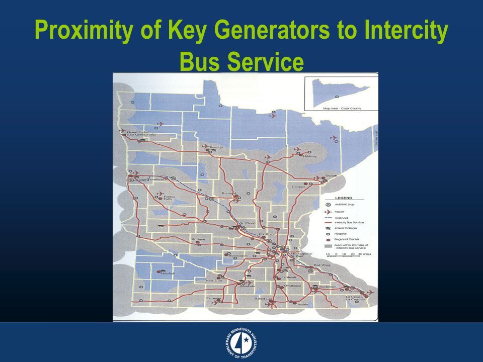 Proximity of Key Generators to Intercity Bus Service