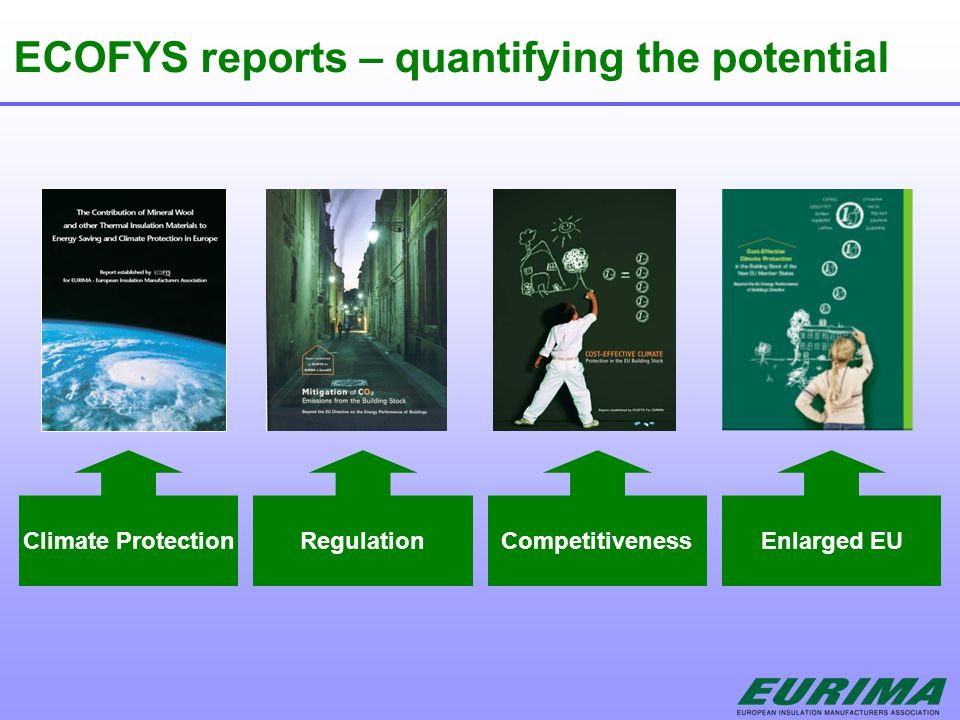 ECOFYS reports – quantifying the potential Climate ProtectionRegulationCompetitivenessEnlarged EU