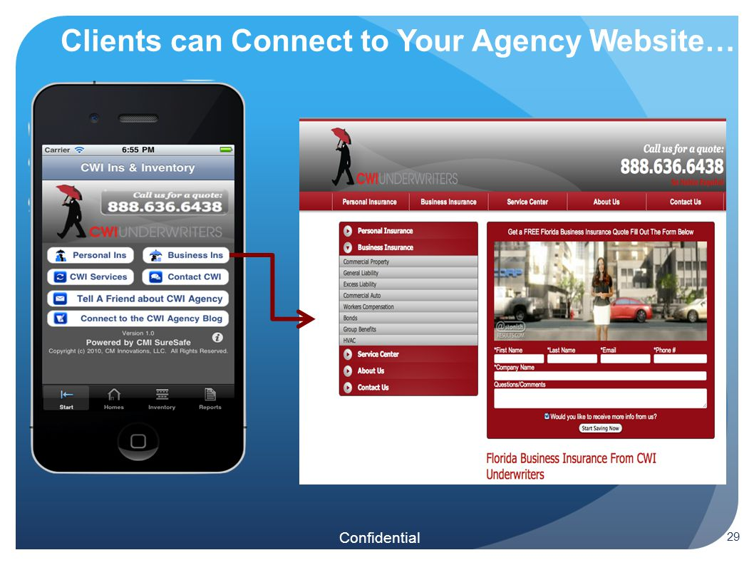 Confidential Clients can Connect to Your Agency Website… 29