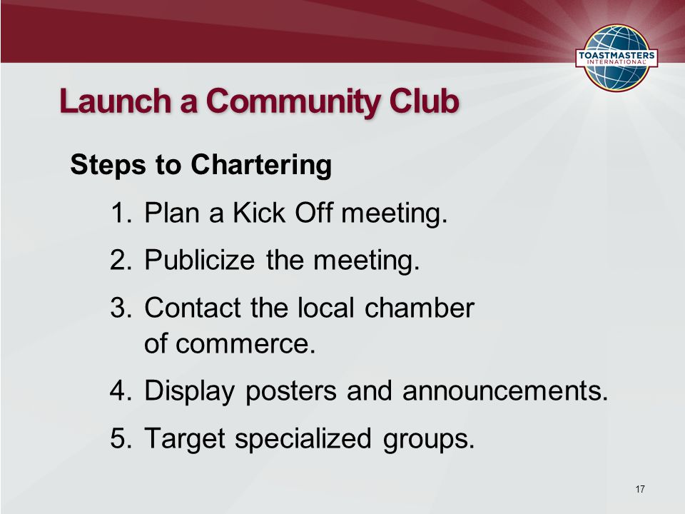 1.Plan a Kick Off meeting. 2.Publicize the meeting.