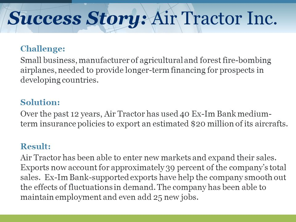 Success Story: Air Tractor Inc.