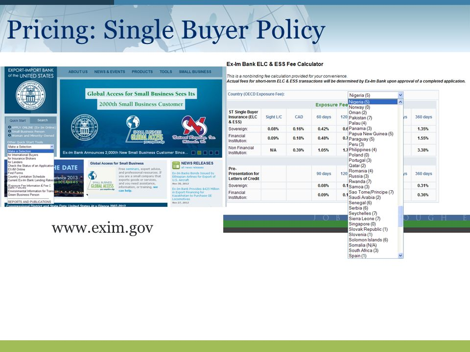 Pricing: Single Buyer Policy
