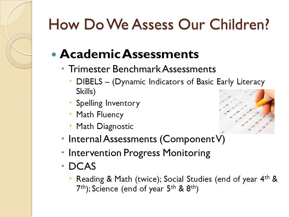 How Do We Assess Our Children.