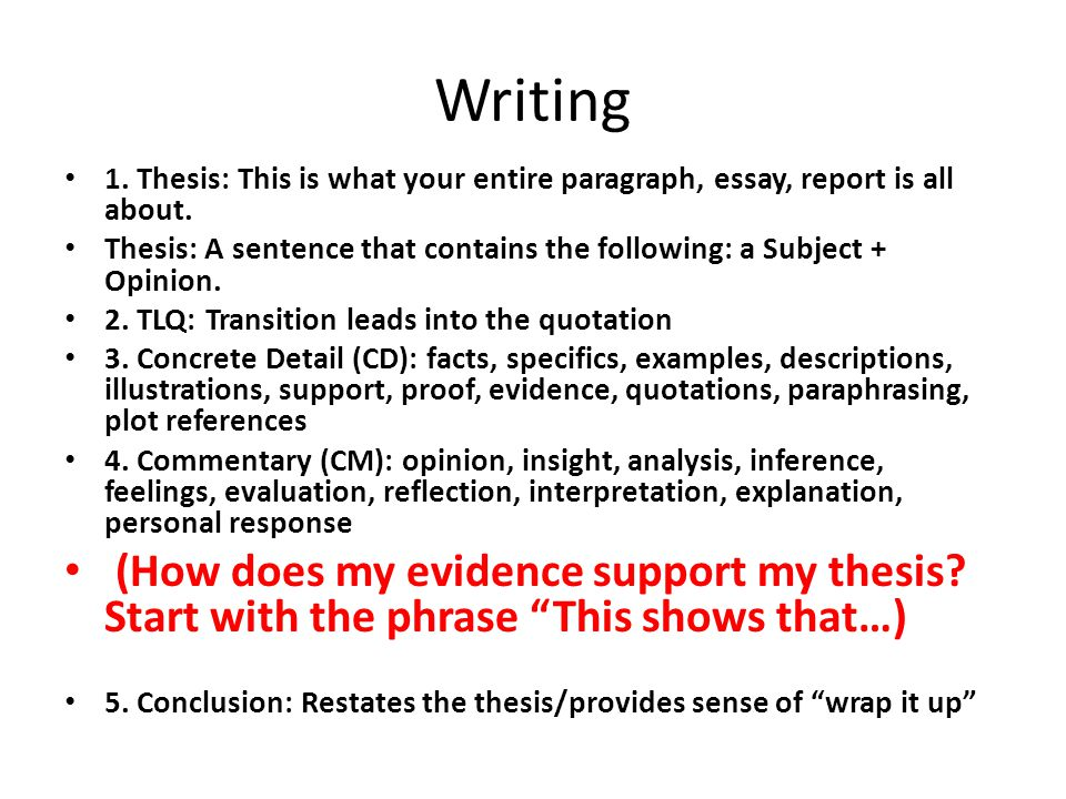 thesis first paragraph
