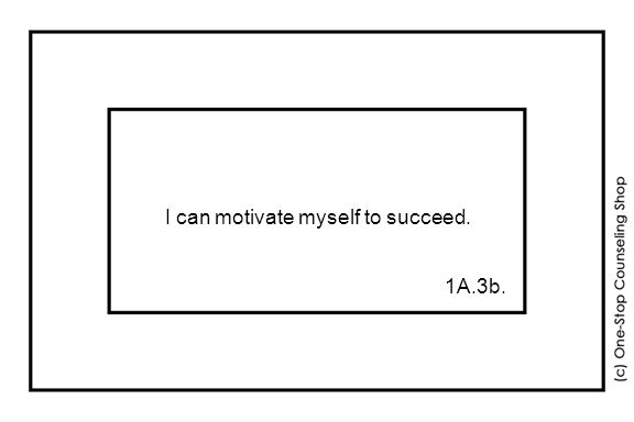 I can motivate myself to succeed. 1A.3b.