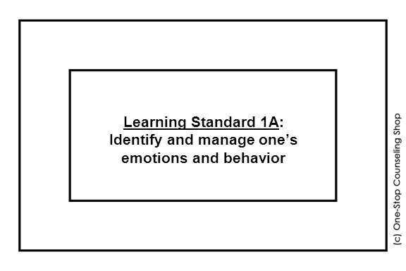 Learning Standard 1A: Identify and manage one's emotions and behavior
