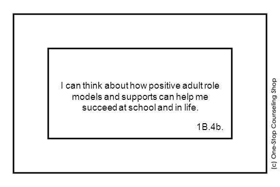 I can think about how positive adult role models and supports can help me succeed at school and in life.
