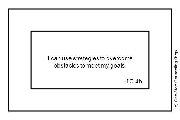 I can use strategies to overcome obstacles to meet my goals. 1C.4b.