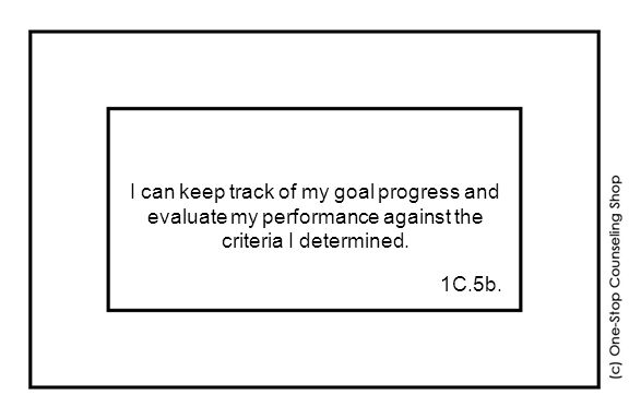 I can keep track of my goal progress and evaluate my performance against the criteria I determined.