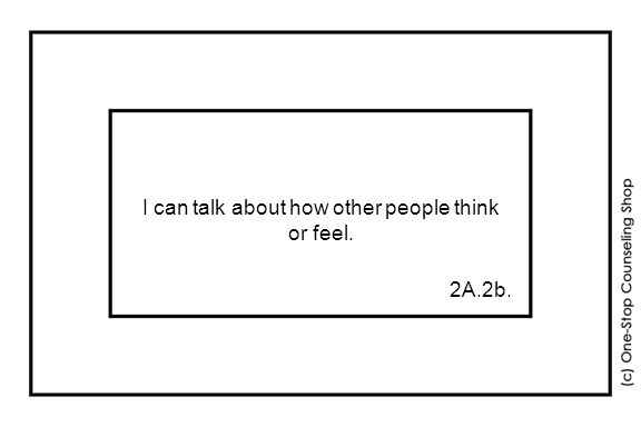 I can talk about how other people think or feel. 2A.2b.
