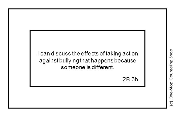 I can discuss the effects of taking action against bullying that happens because someone is different.