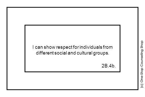 I can show respect for individuals from different social and cultural groups. 2B.4b.