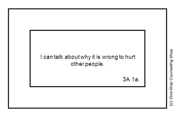 I can talk about why it is wrong to hurt other people. 3A.1a.