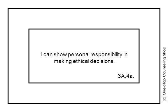 I can show personal responsibility in making ethical decisions. 3A.4a.
