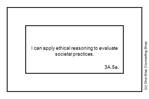 I can apply ethical reasoning to evaluate societal practices. 3A.5a.