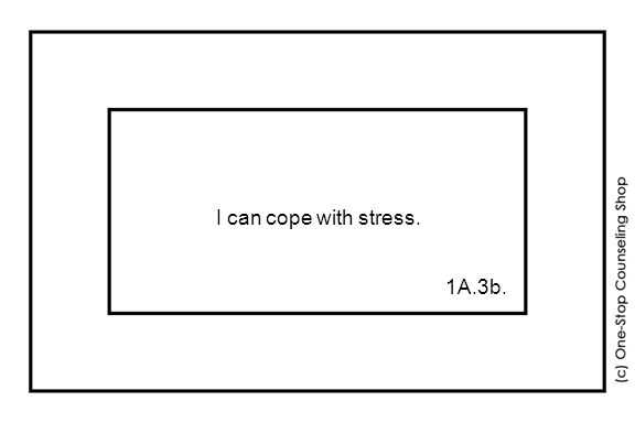 I can cope with stress. 1A.3b.
