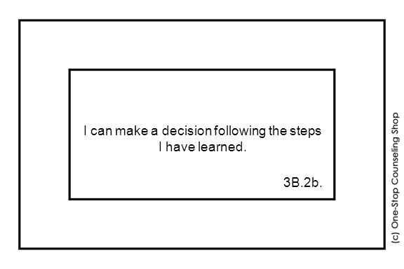 I can make a decision following the steps I have learned. 3B.2b.