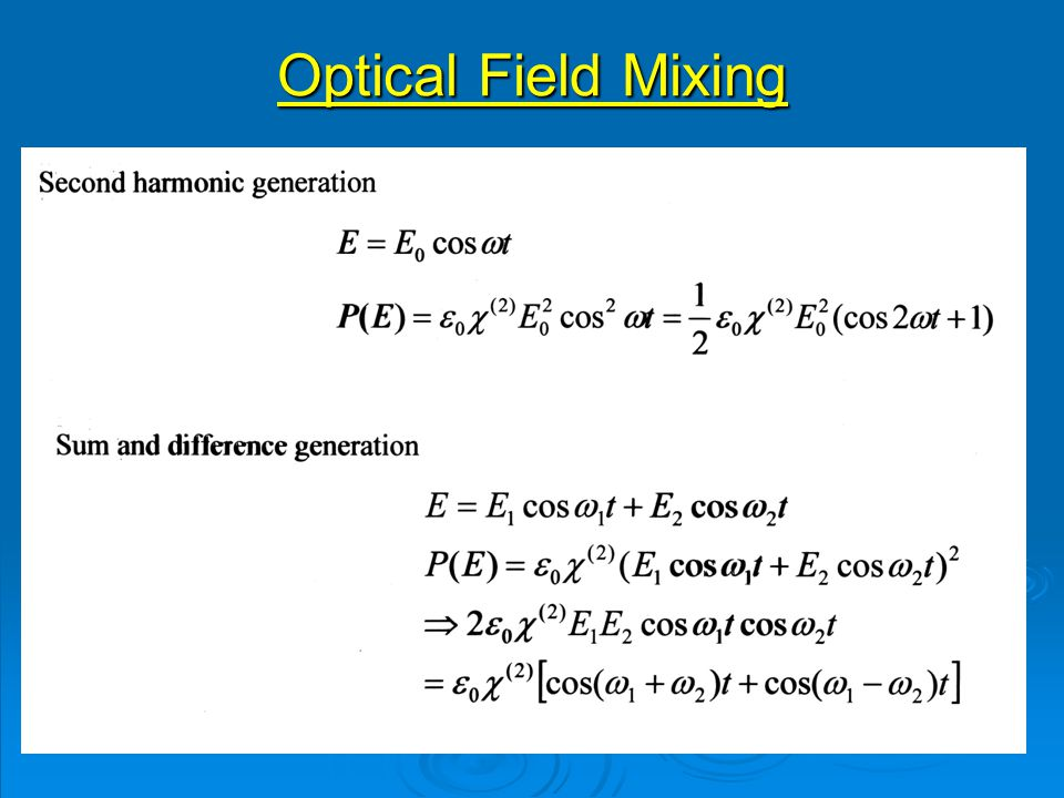 Optical Field Mixing