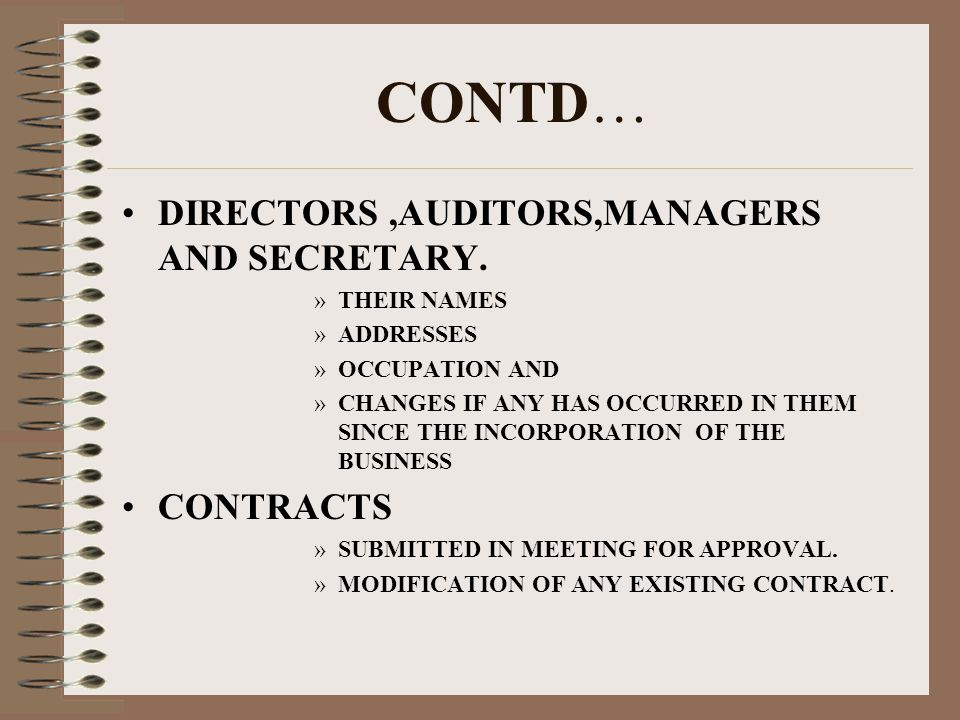 CONTD… DIRECTORS,AUDITORS,MANAGERS AND SECRETARY.