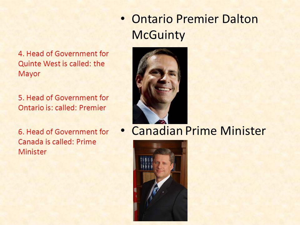 Ontario Premier Dalton McGuinty Canadian Prime Minister 4.