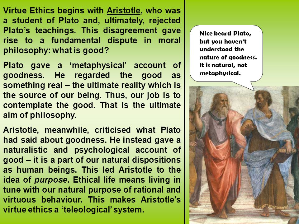 plato and aristotle ethical views