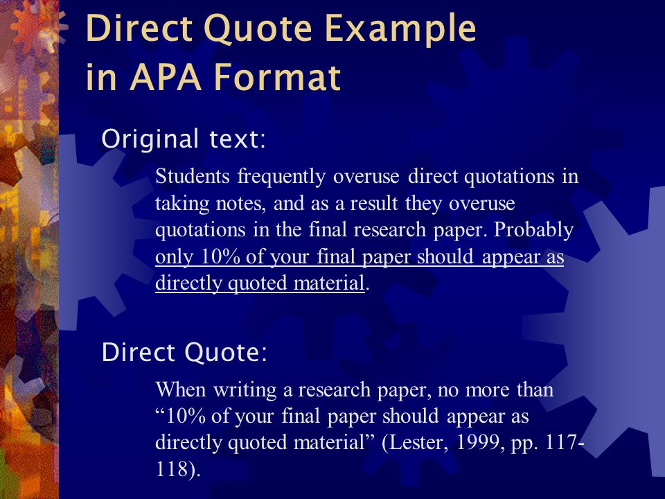 quoting quotes in a research paper How to summarize, paraphrase, and quote from sources as you identify and evaluate research sources, you must make accurate notes of information you think might be.