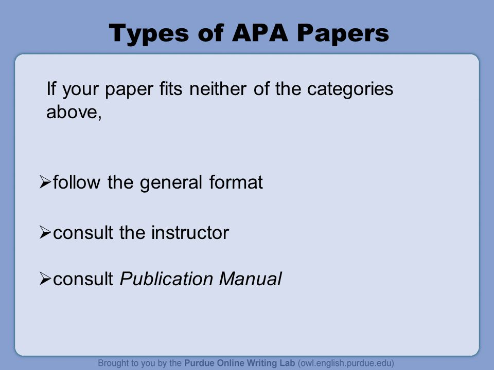 general format of apa research papers