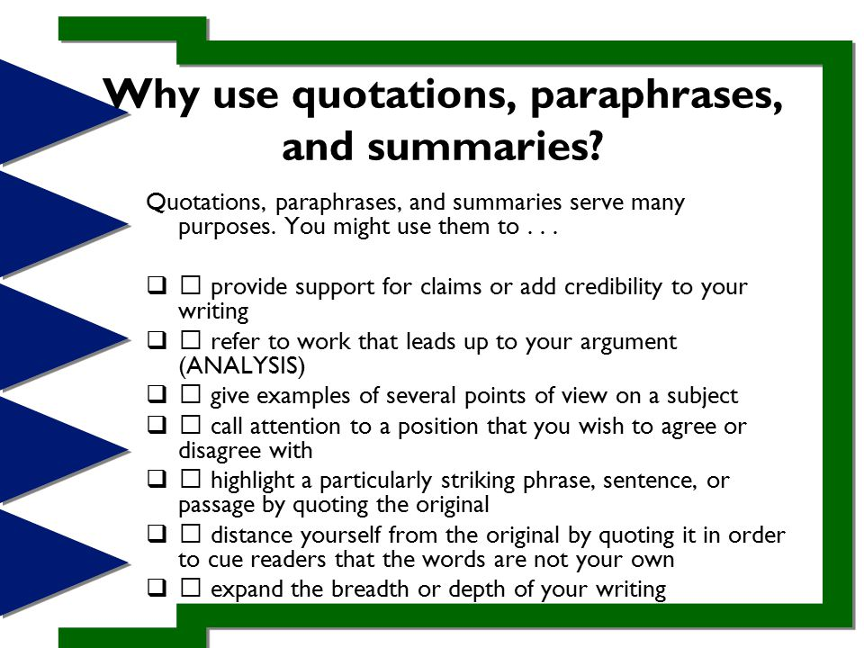 quotation and research notes