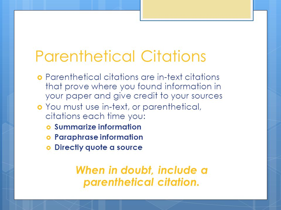 what to cite in research paper Formatting a research paper if your instructor has specific requirements for the format of your research paper, check them before preparing your final draft.