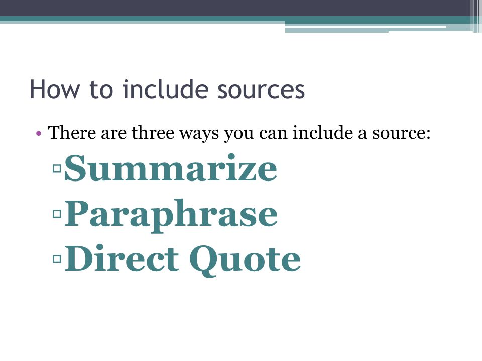 How to use paraphrasing