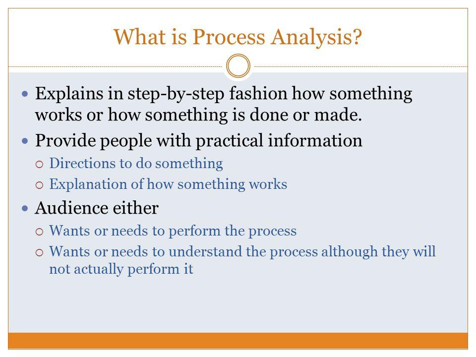 Process analysis essay assignment