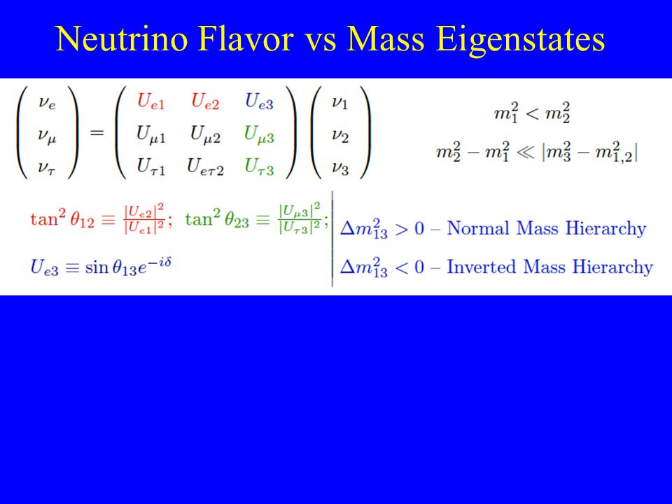 Neutrino Flavor vs Mass Eigenstates