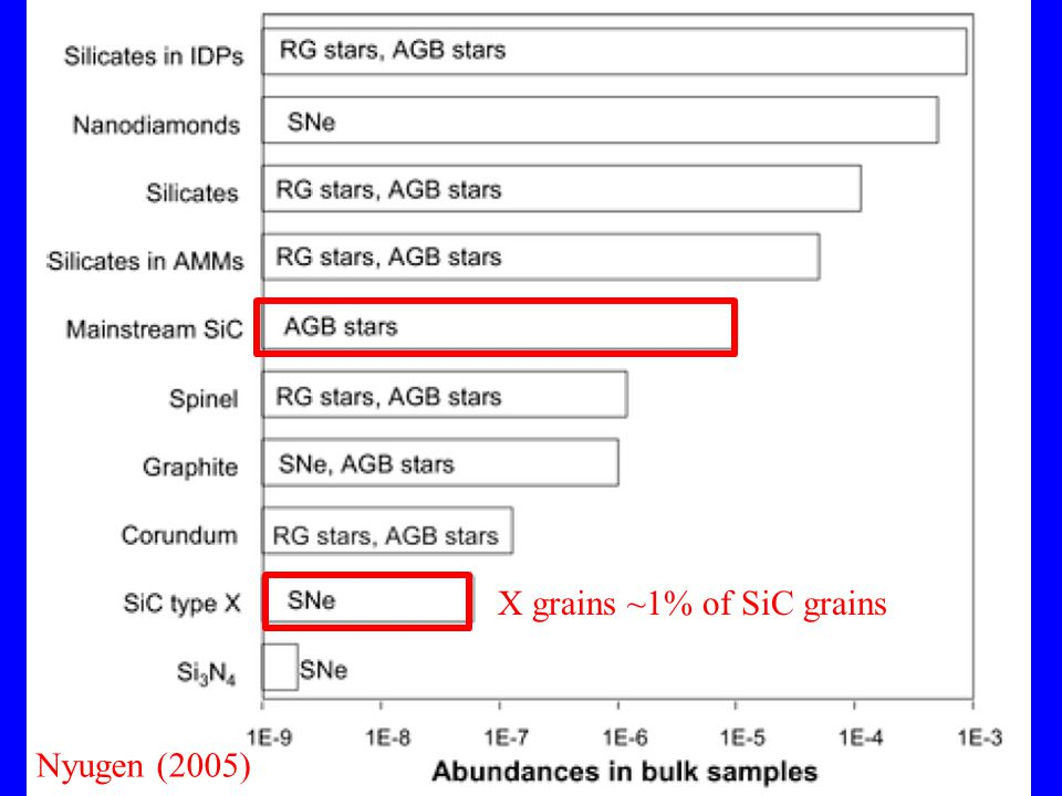 Nyugen (2005) X grains ~1% of SiC grains