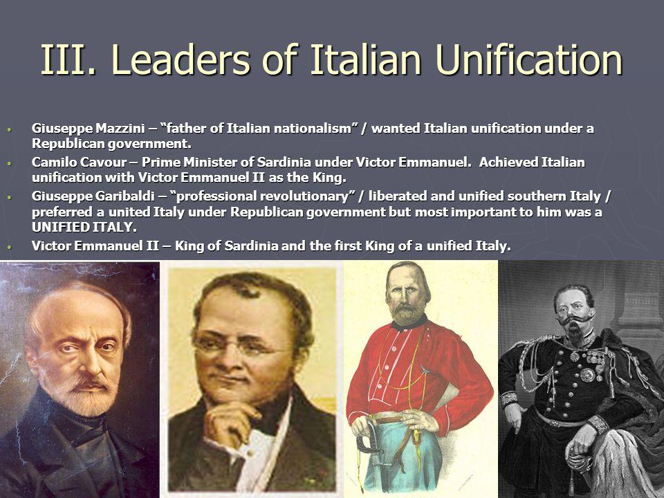 Italian Unification Essay