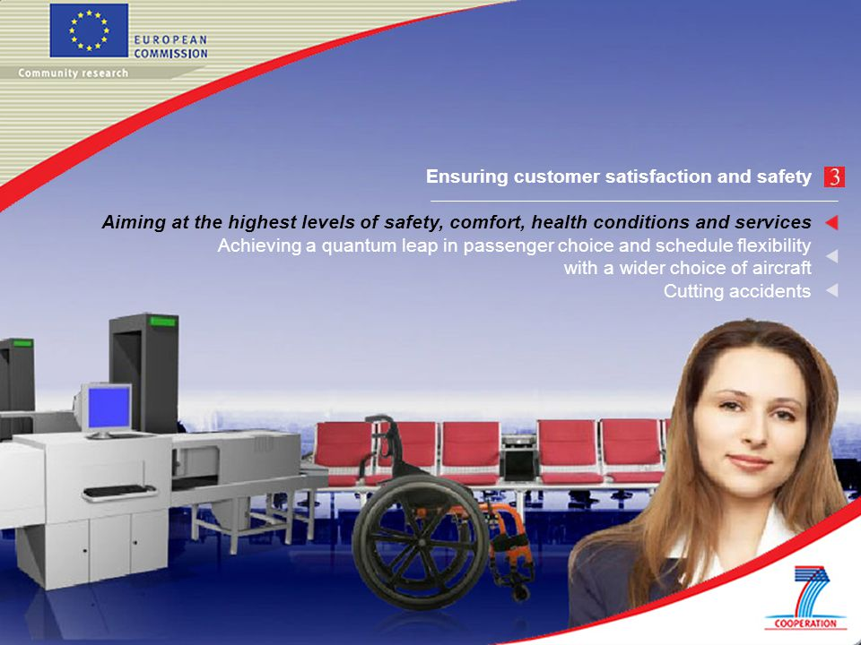 Ensuring customer satisfaction and safety Aiming at the highest levels of safety, comfort, health conditions and services Achieving a quantum leap in passenger choice and schedule flexibility with a wider choice of aircraft Cutting accidents
