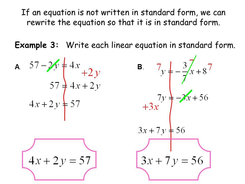Standard Form Of A Linear Equation Day 1 Section 55a Ppt Download