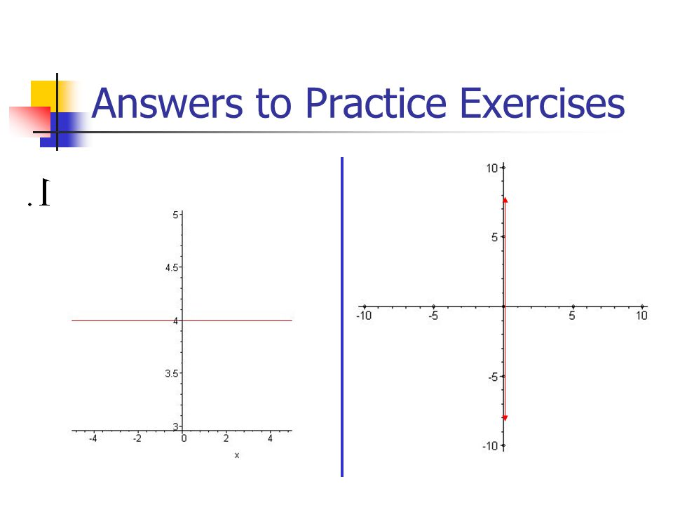 Answers to Practice Exercises