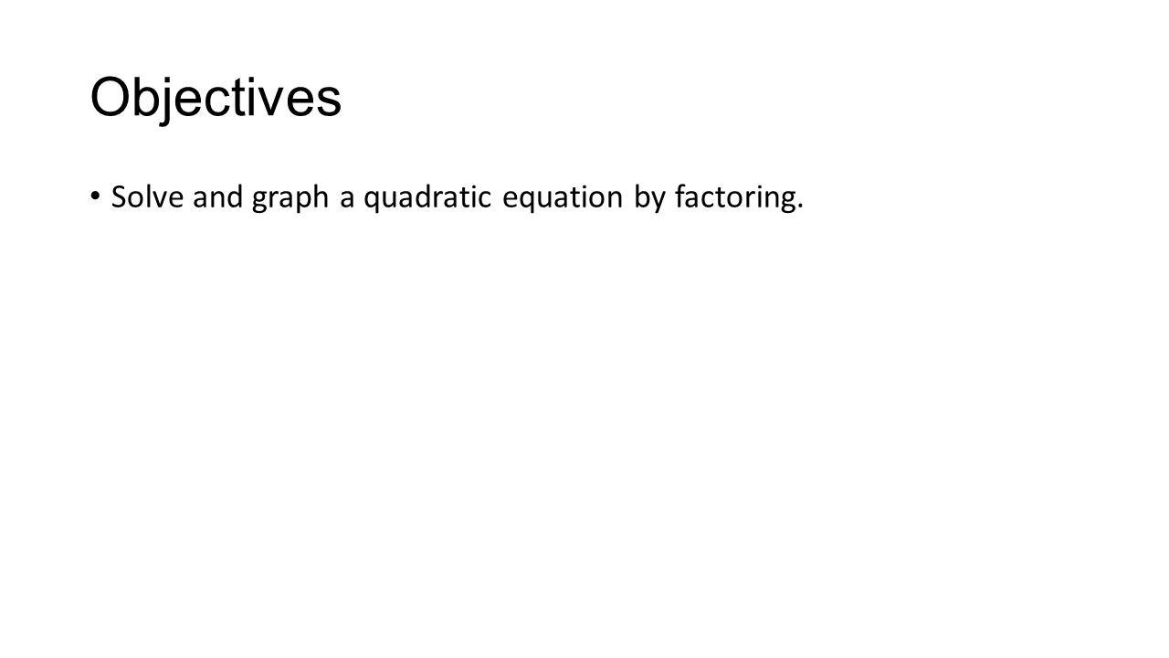 Intercept form of a quadratic equation ck ppt download 3 objectives solve and graph a quadratic equation by factoring falaconquin