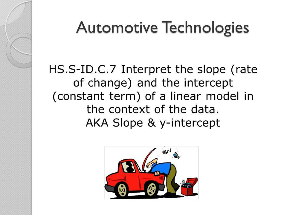 Math Moment Automotive Technologies Hss Idc7 Interpret The