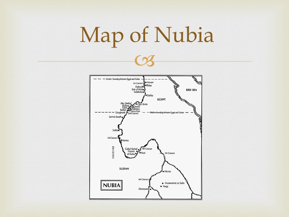 Map Of Nubia Egypt Names Nubia Kush The Geography Of - Map of egypt and nubia