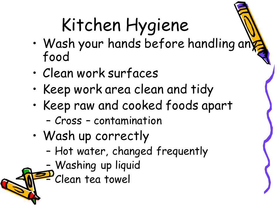 HYGIENE RULES! ok. Kitchen Hygiene Wash your hands before handling ...