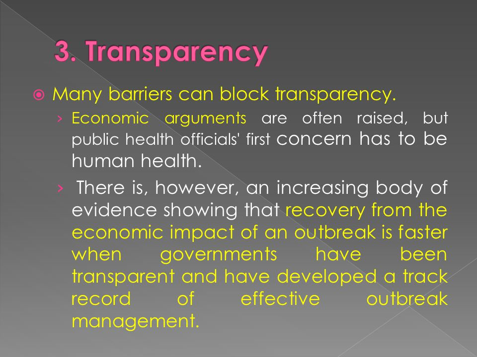  Many barriers can block transparency.