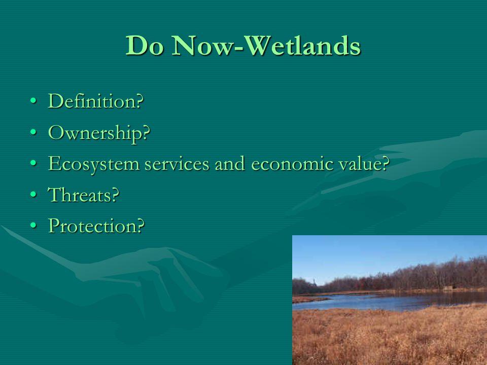 Wetlands and Coastal Areas WetlandsWetlands