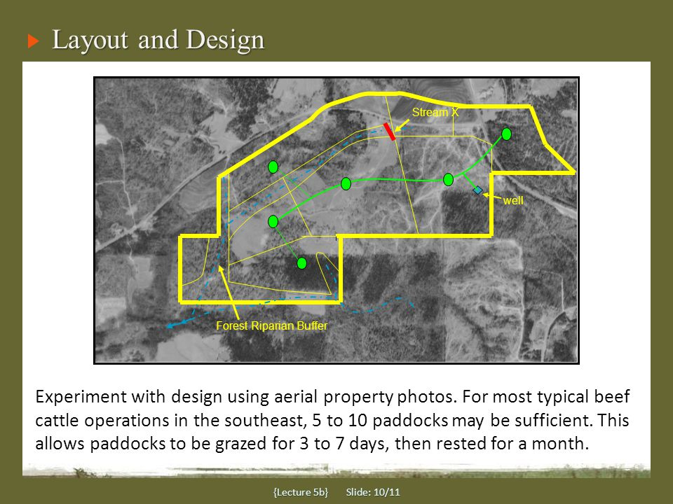 Layout and Design {Lecture 5b} Slide: 10/11 Experiment with design using aerial property photos.